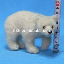 outdoor playground Park Amusement pole animal real size polar bear