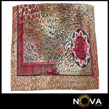 Fashion Scarf For Sale Polyester Leopard Scarf Shawl Flower Pattern design