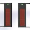 2 beams Solar wireless power Solar outdoor laser alarm sensor