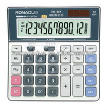 كبيرة الحجم لعبة حاسبةالمدرسة 12 أرقام شاشة العرض الكبيرة كبير مفتاح الطاقة الشمسية سطح المكتب الحاسبة
