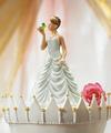 prenses öpüşme kurbağa düğün pastası kaban heykelcik dekorasyon gelin ve damat
