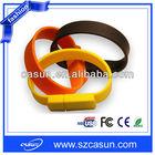 2013 New! Silicon Bracelet USB,Wristband USB Drive,USB Memory Stick