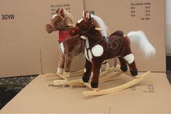 Plush horse baby kids toy / valentine chrisha playful plush rocking horse