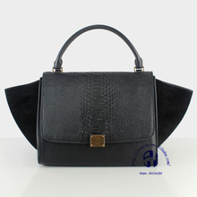 Hot sale have quality green ladies cowhide popular bag dropship paypal