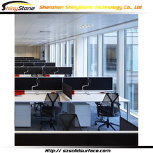 Luminated modern restaurant solid surface metal executive office desk