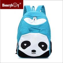 wholeasle cute animal large canvas school laptop backpack bag
