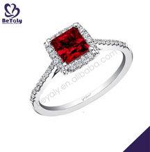 affascinante rosso cz piazza argento o magnetico delle donne anelli