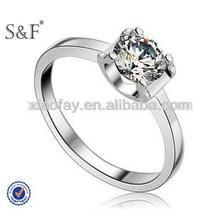 Wholesale Fashion Amethyst diamond finger ring