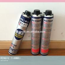Expanding PU Foam Spray Sealant /Joint Mixture , 750ml Gun Type , Factory Directly Sales