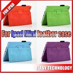 Wholesale book style cute cartoon leather case for ipad mini