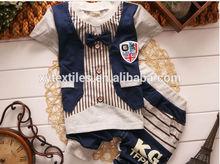 2014 summer newest fashion children 100%cotton clothes boy 2 pieces sets