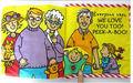 Venta caliente 0 mes o más bebés estéreo de tela libro ocultar- y- buscar bebé educativos el desarrollo potencial de libro