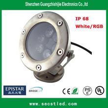 Factory sale high lumen 12V 6W led underwater boat lights