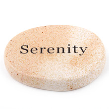 Engraved Wish Words Serenity on Healing Gemstone Picture Japer as Birthday Gift