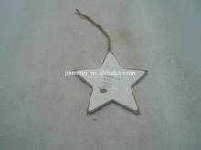 wooden star shape hanger christmas decoration