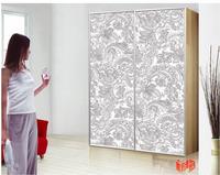mdf sliding door ,ckuv color painted uv board , kitchen cabinet , kids bedroom furniture white