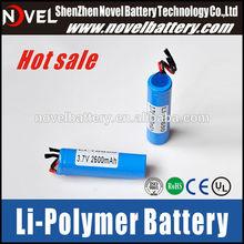 3.7V 2600mAh China best quality 18650 Li-ion battery