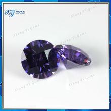 Geogerous Brazil Amethyst 8x8mm CZ Amethyst for Decoration Checkboard Cut Amethyst Gemstone