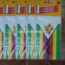 China customized logo printing National flag car air freshener