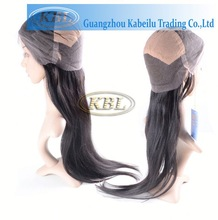 Can be dyed human hair thin skin top lace wig