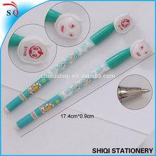 Customized design print student gel pen with cute cap