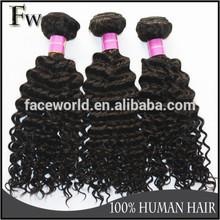 Faceworld hair top quality brazilian curl hair weave,best selling brazilian human hair
