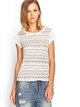 Print short sleeve casual clothing Guangzhou factory summer t shirt women
