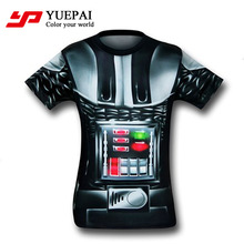 custom sublimation printing fashion men's famous brand name t-shirt