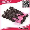 De onda floja paquetes de color natural 100g/pcs brasileño virgen del cabello africano del trenzado