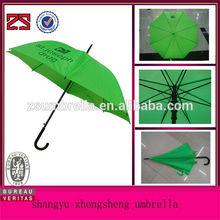 Green color automatic umbrella corporate branding