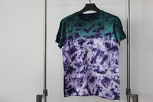 2014 New Woman T-shirt O-neck shirt OEM Factory Manufacture Clothing Tie Dyed Single Jersey Cotton T-shirt