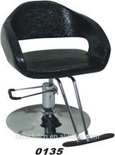 Utilizado silla de barbero leopardo sillas de salón ( 0135 )