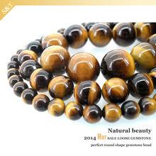 AAA Grade 12mm Gemstone wholesale price natural stone Round Bead yellow rough tiger eye