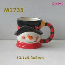 antique snowman gift christmas ceramic coffee mug