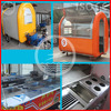 CE approved outdoor street hot food vending tricycle cart