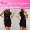 2014 wholesale plus size High-Neck topshop midi dress
