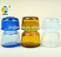 Colorful Mushroom Shape Decorative Glass Small Jar