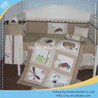 nursery newborn cotton canopy bed curtain