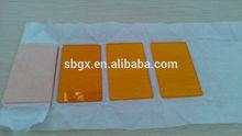 CB580 GG590 Orange color glass filter window