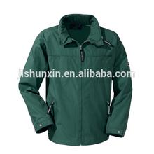 Windproof long sleeve dark green lightweight casual jackets for men