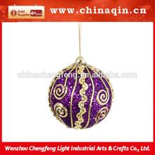 Luxury us clear cheap indoor custom christmas foam ball ornament