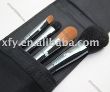 Pro 4pcs Flower Black Makeup Brush