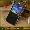 with Screen View Leather case for note3 , for samsung galaxy note3 case S-view