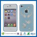 الكريستال الأزرق جوفاء c&t وعرة ناحية الحبوب iphone4s ليشمل التفاح حامي