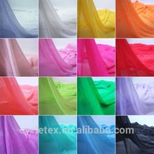 100% poleyster chiffon fabric ,wedding veil fabric ready stock for choose color