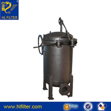 suzhu huilong supply high quality industrial water filter vessel,bag filter equipment, Stainless steel hydraulic in line oil fil