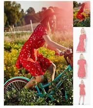 2014 latest design Ruby Keyhole Fit & Flare Dress New Model Girl Dress