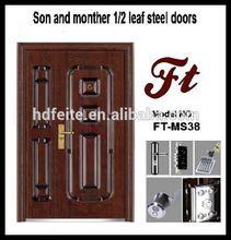one and half leaves security steel door
