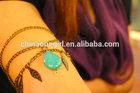 Antique Bronze Armlet with Turquoise- Slave Bracelet