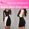 black Mesh Sleeves ladies simple fashion dress